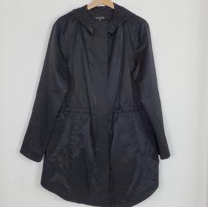 Eileen Fisher Light Organic Cotton Nylon Long Coat
